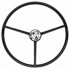 61-63 Comet Steering Wheel 3 Spoke, Black, NEW