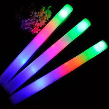 1X Light Up Foam Sticks LED Wands Rally Rave Batons Flashing Glow Stick Bubble