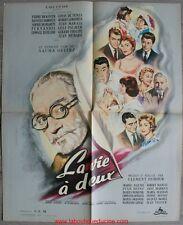 LA VIE A DEUX Affiche Cinéma / Movie Poster FERNANDEL LOUIS DE FUNES 60x48