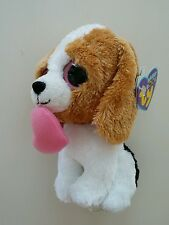 Ty Beanie Boos Cookie Dog 2011 Holding Heart NWT Hang Tags 6""