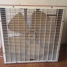 "Vintage Country Aire Box Fan 22"" 3 speed RETRO BURNT ORANGE Works!!!"