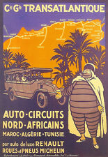 Africa-Renault Tours - Michelin Man -Auto Circuits - Travel A3 Art Poster Print