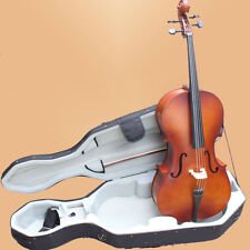 SET 4/4 Size Cello, Bow Rosin Bag Package Vintage Color FREE 4/4 Cello Case