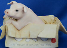 BORDER FINE ARTS NUGENT PIG IN OXO BOX JH 12