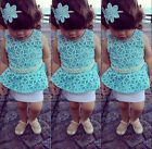 Petite Princess Baby Girl Kids Embroidered Bling Pearl Tutu One-piece Dress 2~7Y