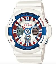 Casio G-Shock * GA201TR-7A XL Maritime Tricolor White Gshock Watch COD PayPal