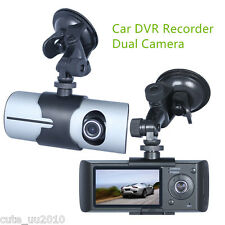 "Car DVR Recorder HD 1080P 2.7"" LCD Dual Camera 5MP with GPS Logger and G-Sensor"