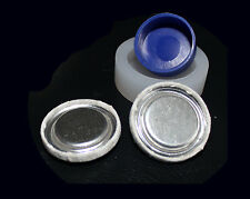 50 Fabric Self Cover Buttons 27mm Flatback Free Tool Cabochon New True Flat DIY