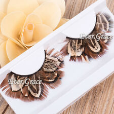 Makeup Long False Feather Eyelashes Soft Fancy Eye Lash Halloween Party Cosplay