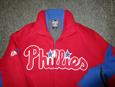 Philadelphia Phillies Majestic Authentic Triple Peak Premier Jacket Coat  Medium
