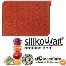 STAMPO FORMA 24 MACARONS IN SILICONE-TAPPETO SILIKOMART PROFESSIONAL CAKE DESIGN