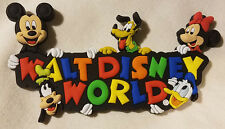 Disney Parks Walt Disney World WDW Mickey & Friends Fridge Magnet PVC - NEW