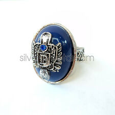 Anello Damon Salvatore The Vampire Diaries Ring Anillo Anneau cosplay blu nuovo