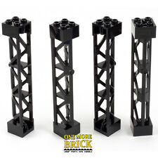 LEGO Girder 2x2x10 Lattice Tower Scaffold (Part 95347) Pack of 4 NEW