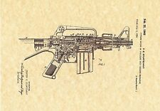 Patent Print - M16 Machine Gun 1966 - Art Print - Ready To Be Framed!
