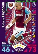354 Sofiane FEGHOULI ALGERIA WEST HAM UNITED CARDS PREMIER LEAGUE 2017 TOPPS