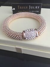 Heavy Luxurious Rose Gold And Diamante Bracelet  - Gift Packaged