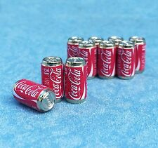 Set 10pcs Coca Cola can Drinks Beverages dollhouse miniatures supply