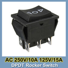 DPDT 6 Pin Power Window Momentary Rocker Switch AC 250V/10A 125V/15 12 Volt