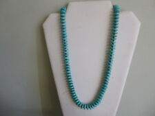 Turquoise Heishi Bead And Black hematite Native American Style Necklace