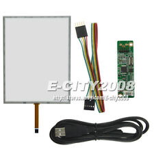 "15"" 5wire Touch screen Digitizer + USB Controller kit FOr M150XN03 M150XN07 4:3"
