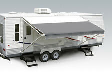 "18' Slate Grey w/Wht W/G, RV Patio Awning Repl. fabric canopy (Fabric:17'2"")"
