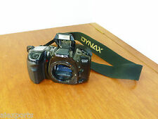 Minolta Dynax 500si Super 35mm SLR Film Camera Body Only with Flash, Bag Battery