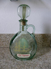1965 Old Ironsides Old Fitzgerald Kentucky Green Glass Ship on a Bottle Decanter