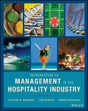 Introduction To Management In The Hospitality Industry 10th Int'l Edition