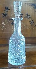 WATERFORD CRYSTAL SHANNON JUBILEE PATTERN WINE DECANTER BEVELED TOPPER