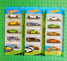 2014, 2015 & 2016 Hot Wheels - Exotics  - 5-Pack  - Lot of 3