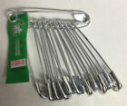 Safety Baby Extra Large 53mm silver chrome scarf shawl brooch handkerchief pins