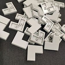 x24 New LEGO Corner Flat Tile 1x2x2 Light Grey 14719 smooth plate Lot