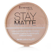RIMMEL LONDON STAY MATTE PRESSED POWDER 002 PINK BLOSSOM NEW