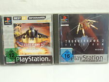 2 PlayStation 1 Spiele Eagle One Harrier Attack und Thunderhawk 2