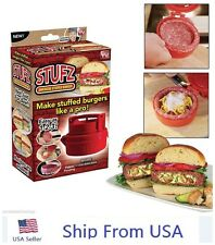 Stufz Stuffed Burger Press Hamburger Patty Maker Juicy BBQ Grill As Seen On TV