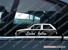 Livin' RETRO car sticker - for Vauxhall Nova / opel Corsa A MK1 classic