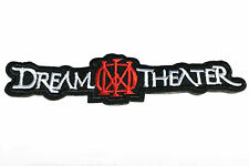 Dream Theater logo music embroidered iron on patch 120mm x 28mm