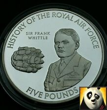 2008 JERSEY £5 Five Pound History of RAF SIR Frank Whittle Silver Proof Coin