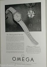 1954 Omega Watch advertisement, Globemaster Chronometer, Olympic Cross award