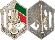 LEGION, 6° Régiment Etranger d'Infanterie, argenté, dos grenu, Drago Ber. (H27)