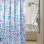 New 1Pc Waterproof Polyester Fabric Pattern Hooks Bathroom Shower Curtain BJC