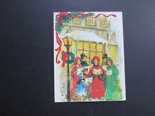 #K232- Unused Victorian Xmas Greeting Card Holiday Carolers Singing Songs