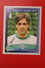 PANINI CHAMPIONS LEAGUE 2008/09 # 184 WERDEN BREMEN FRITZ BLACK BACK MINT!