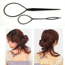 Black Plastic Magic Topsy Tail Hair Braid Ponytail Styling Maker Clip Tool New