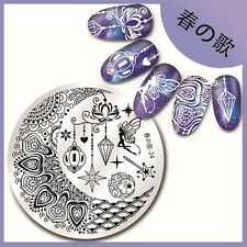 1Pc Nail Art Round Stamping Plate Template DIY Harunouta-24 Fairy Magic Pattern