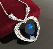 Halskette Titanic Herz des Ozeans mit SWAROVSKI® ELEMENTS Kristall 18K Weißgold