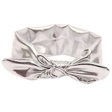 Baby Girls Rabbit Bow Ear Hairband Headband Turban Knot Tie Head Wraps Gift S1