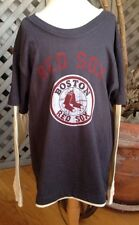 NEW BOSTON RED SOX Double Tee T-shirt Adult S Small (probably L Kids) Authentic