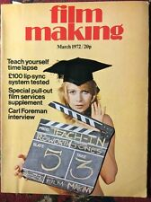 Film Making Magazine Mar 1972 motion picture super 8mm 16mm Cameras movie cine